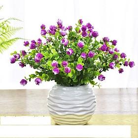 Hoa giả, chậu hoa nụ hồng nhí trang trí nhà cửa, bàn học, kệ tủ màu sắc tươi sáng, phong cách sáng tạo Anzzar CH-10