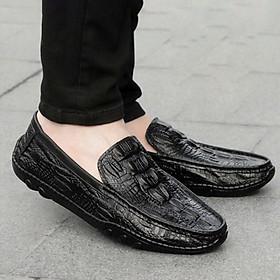 Giày lười nam da bò vân đuôi cá sấu Udany - Giày mọi nam đẹp lịch lãm dành cho quý ông - GL0024