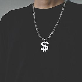 Vòng cổ nam nữ inox kiểu dáng Hiphop - mặt treo biểu tượng đô la