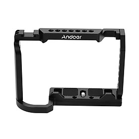Andoer Aluminum Alloy Video Camera Cage with Cold Shoe Mount 1/4 Inch Screw Holes Compatible with Nikon Z6/Z7