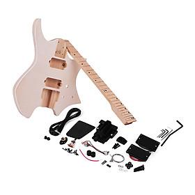 Bộ Dụng Cụ DIY Lắp Ráp Đàn Guitar Điện Thân Gỗ Trầm Và Cổ Bàn Phím Gỗ Thích Không Có Bệ Đỡ Muslady