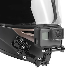 For GoPro hero6/5/4 Motorcycle Helmet Chin Bracket Turntable Button Mount Action Cam Accessories