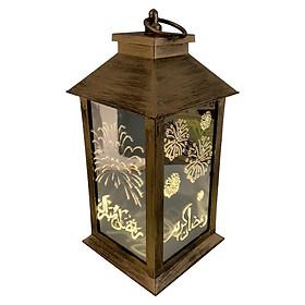 Muslim Ramadan Wind Lamp Lantern Eid Festival LED Light Retro Holiday Decoration