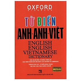 Từ Điển Oxford Anh - Anh - Việt ( Bìa Đỏ Cứng ) (Tặng Bookmark độc đáo)