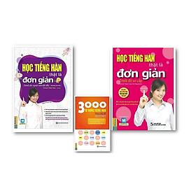 Combo Học Tiếng Hàn Thật Là Đơn Giản - Cho Người Mới Bắt Đầu + Trình Độ Sơ Cấp + 3000 Từ Vựng Tiếng Hàn Theo Chủ Đề ( tái bản )
