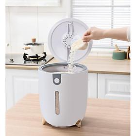Thùng đựng gạo thông minh 12KG - Thùng đựng gạo cao cấp chống nước, chống ẩm mốc, chống mối mọt