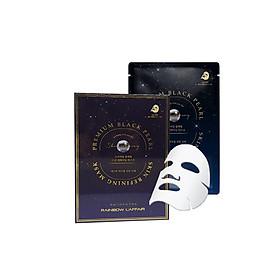 Hộp 10 Mặt Nạ Ngọc Trai Chống Lão Hóa, Ngừa Mụn - Ung Thư Da Rainbow L'affair Premium Black Pearl Skin Refining Mask 300ml
