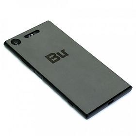 Ốp da dán cho Sony Xperia XZ1 - Da thật nhập khẩu cao cấp - Davis (Xám ghi)