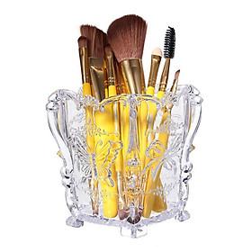 Acrylic Cosmetic Organiser Makeup Brush Pen Pot Case Holder Butterfly Rose