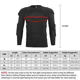 Men Padded Compression Shirt Multiple Pad Protective Gear for Football Baseball Soccer Basketball Volleyball Training-2