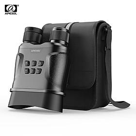APEXEL APL-NV01 UHD Night Vision Goggles Digital Infrared Binoculars 438 Yards Viewing Range 2.3 Inch LCD Display Take