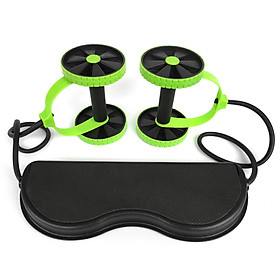 Multi Function Double AB Roller Wheel Foldable AB Muscle Trainer Home Gym Fitness Wheel
