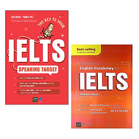 Combo Sách Học Tiếng Anh Hiệu Quả: The Key To Your IELTS Speaking Target + Check Your English Vocabulary For IELTS / Cẩm Nang Học Nhanh Nhớ Lâu