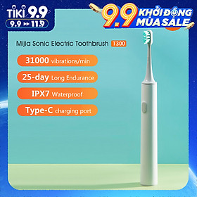 Xiaomi Mijia Sonic Electric Toothbrush T300 USB Rechargeable Tooth Brush Ultrasonic Waterproof Tooth Brush Gum Health (White)