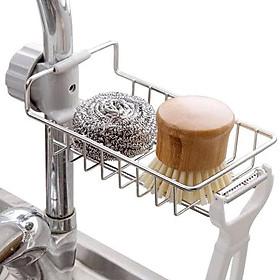 Giá để đồ inox cài cạnh vòi nước rửa bát nhà tắm + tặng khăn Cotton xuất khẩu Nhật Pháp