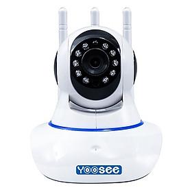 Camera IP Wifi trong nhà đàm thoại 2 chiều Yoosee 3 Anten Full 1080P + Tặng thẻ nhớ 32G - Hàng nhập khẩu