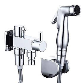 CVBAB toilet flusher pressurized spray gun faucet copper three-way angle valve one into two out double angle valve bidet set CV3117