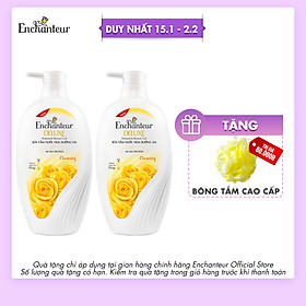 Combo 2 Sữa tắm nước hoa dưỡng da Enchanteur Charming 450gr/ Chai