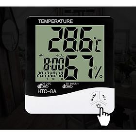 Đồng hồ đo nhiệt độ, độ ẩm model HTC-8A (Tặng kèm 02 đèn ngủ cắm USB)
