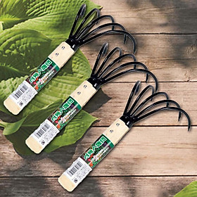 Bộ 3 dụng cụ làm vườn cầm tay bằng cán gỗ - Hàng Nội Địa Nhật