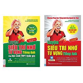 Combo 2 cuốn sách luyện siêu trí nhớ từ vựng tiếng anh luyên thi thpt và luyện thi Toiec tặng cuốn rèn luyện kĩ năng học sinh