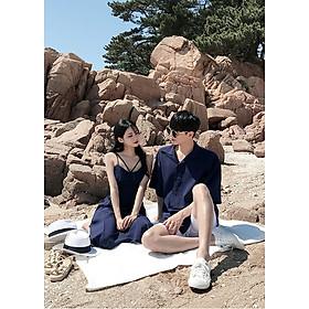 Đồ đôi dạo biển ( váy + áo sơ mi )