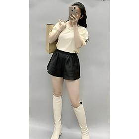 Áo Thun nữ cộc tay, áo phông nữ thiết kế tay bồng đính dây xinh đẹp - H&N Store