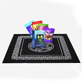 Combo Bộ Bài Bói Tarot Angel Tarot Oracle 78 Card Cao Cấp và Khăn Trải Bàn Tarot