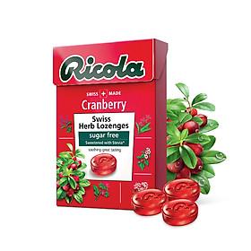 Kẹo thảo mộc trái cây Cranberry hiệu Ricola