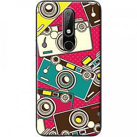 Ốp lưng dành cho Nokia 3.1 Plus mẫu Máy ảnh nền hồng
