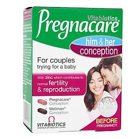 Tăng khả năng thụ thai Pregnacare him & her conception 60 viên