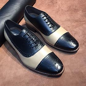 Giày Tây Nam buộc dây cao cấp - phong cách thời trang Nam Âu - hiện đại, thời trang, lịch lãm 3332 Leather Upper