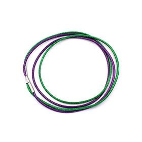 Combo 2 sợi dây vòng cổ cao su xanh lá + tím DCSXLI1