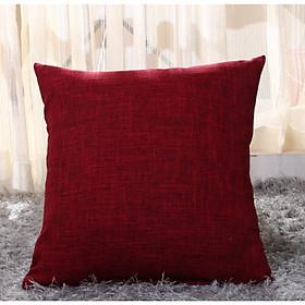 Gối Tựa Lưng Trang Trí Sofa Vải Lanh Trơn Sang Trọng