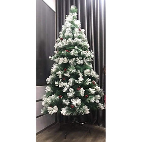 Cây thông noel 3 loại lá phủ tuyết (Cây 150cm)