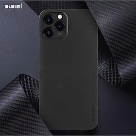 Ốp lưng lụa mỏng dành cho iPhone 12/ 12 Pro /12 Pro Max bảo vệ camera, siêu mỏng 0.3 mm - Hàng Chính Hãng Memumi