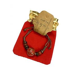 Vòng tay handmade hạt sứ đỏ may mắn VHM01 (có kèm túi gấm cao cấp)
