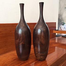 Bộ 2 bình trang trí gỗ chiu liu