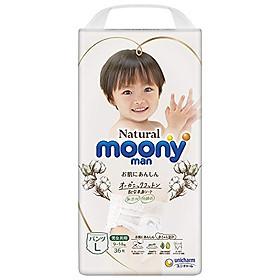 COMBO 2 Tã/Bỉm quần Moony Natural size L-36 miếng (9-14kg)-2