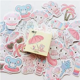 Hộp 45 Miếng Dán Sticker Trang Trí Giai Điệu Mùa Hè