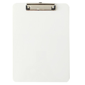Bìa Trình Kí 1 Mặt Nhựa PS 1 Ngăn Zipper Bag - Stacom-D017S - Màu Trắng