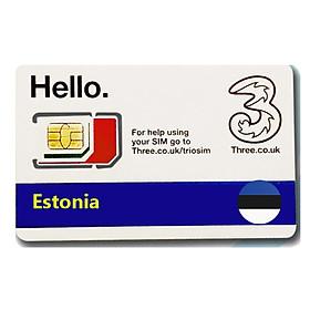 Sim du lịch Estonia 4g tốc độ cao