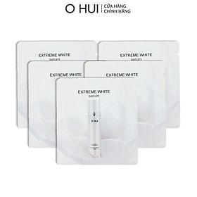 Bộ Tinh chất và Kem dưỡng trắng OHUI Extreme White 10x1ml/gói-Gimmick