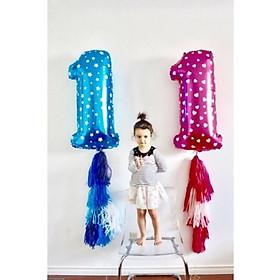 Bóng số 1 size đại 32 inch trang trí sinh nhật