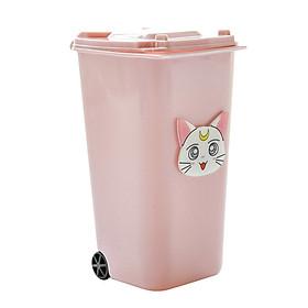 Ống Đựng Bút Viết hồng hình thùng rác