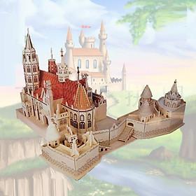 Đồ chơi lắp ráp gỗ 3D Mô hình Nhà thờ Matthias