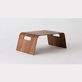 Bàn đa năng gỗ uốn cong ToMa Bed Tray - Veneer Màu Walnut