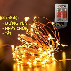 Dây đèn nháy Led đom đóm trang trí pin 10M/5M/2M Vàng nắng/ Nhiều màu, dây bóng đèn nháy cao cấp decor nhà cửa, lễ tết, lều trại du lịch cao cấp, bền đẹp, tinh tế, sang trọng - Chính hãng DEHA