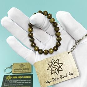 Vòng tay trầm hương nam nữ tròn đơn Trầm Tốc SƠN MỘC HƯƠNG mang lại may mắn và thành công quà tặng 1 mốc khóa SMH