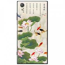 Ốp lưng dành cho Sony Xperia XA1 Plus mẫu Hoa sen cá